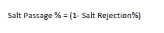 درصد عبور نمک